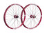 Spank Spike Race28 EVO wheelset 20mm + 12/150mm red